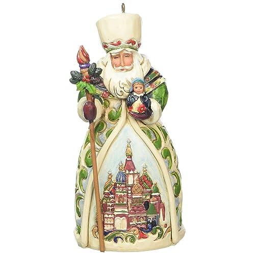 "Jim Shore Heartwood Creek Russian Santa Stone Resin Hanging Ornament, 4.75"" - Russian Christmas Ornaments: Amazon.com"