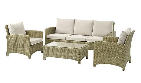 Naunton Manor cm Grande sofá, Dos sillones y Mesa de café ...