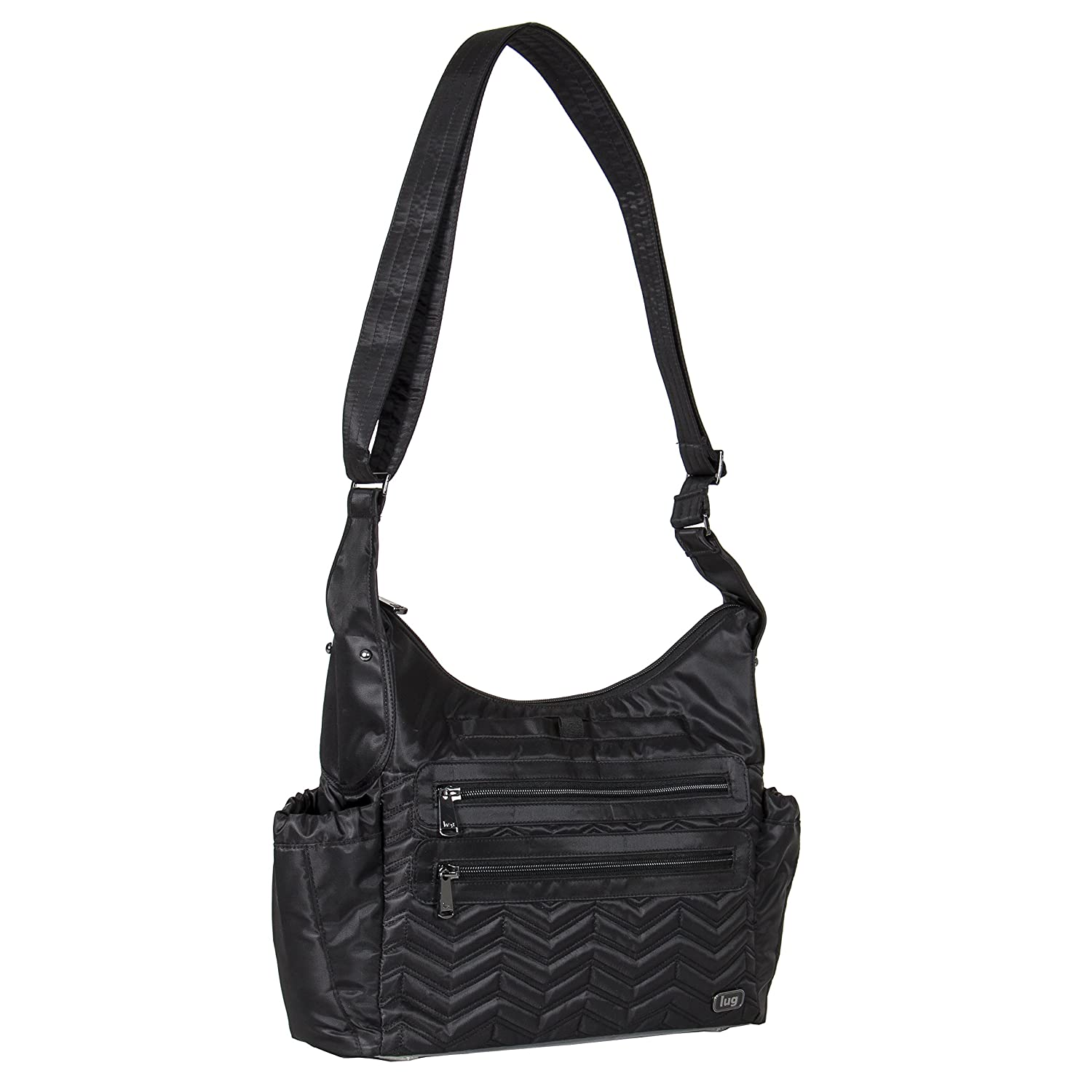Lug Women's Camper Cross Body Shoulder Bag, Midnight Black, One Size LUGCA V-CAMPER-MIDNIGHT BLACK