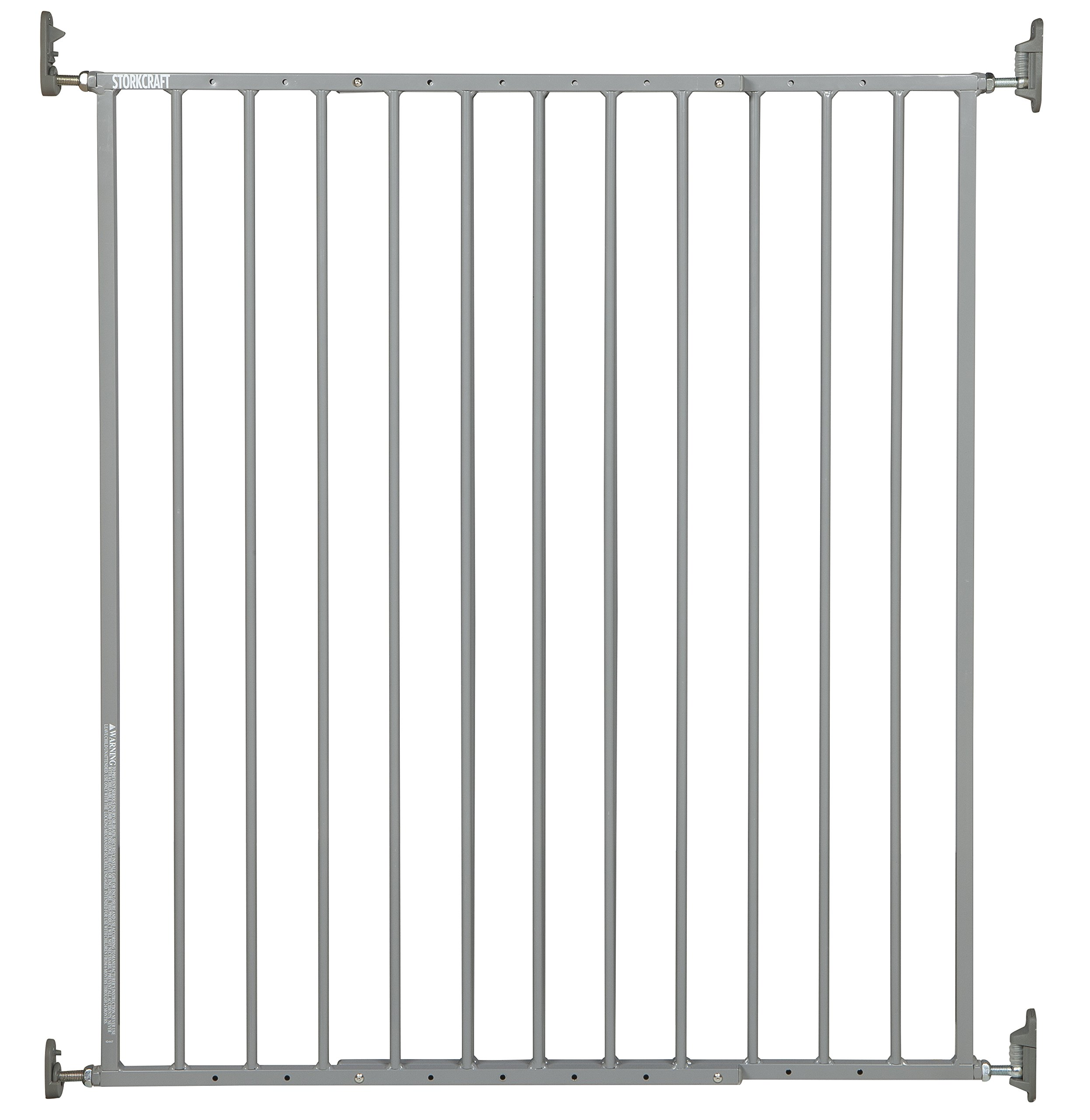 Storkcraft Easy Walk-Thru Tall Metal Safety Gate, Grey Adjustable Baby Safety Gate For Doorways and Stairs, Great for Children and Pets