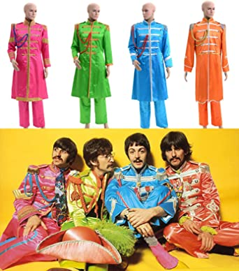 The Beatles Sgt Pepper S Lonely Hearts Club Band Costume S Man Blue Amazon Co Uk Clothing