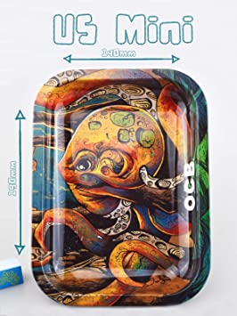 Small 287mm x 190mm Octopus OCB LTD Edition Rolling Tray by Sean Dietrich