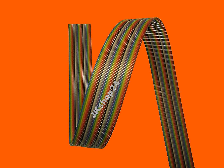 FLACHBANDKABEL 10-polig//Adern Meterware FLACHBANDLEITUNG AWG28//1,27 mm Farbe-IEC