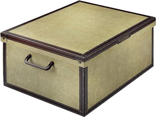 ☆ Caja de almacenaje decorativa ☆ Cartón práctico con tapa y asas estables | Diseño Tapirus