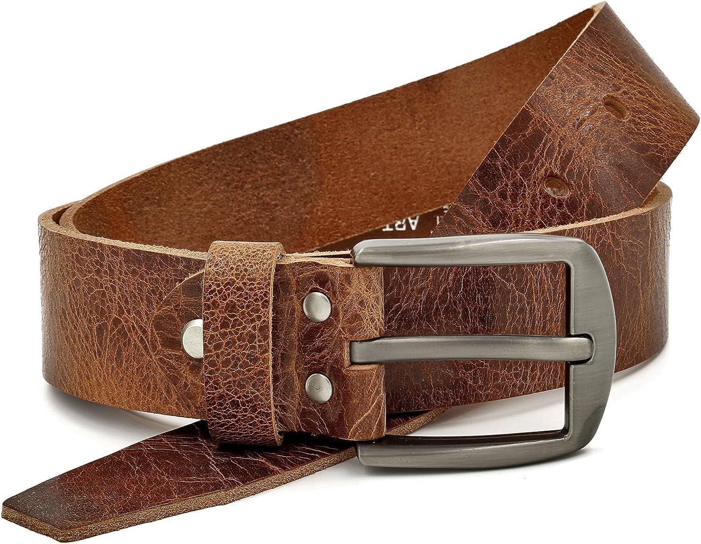 Marrón Vintage Cinturón De Cuero Búfalo, 40 mm De Ancho y aprox. 3-4 mm De Grueso, Puede Acortarse #Gbr00020