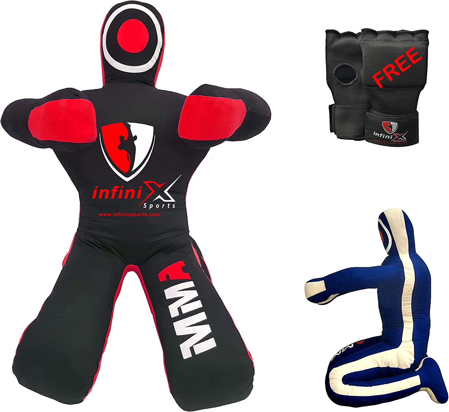 UNFILLED 6-FT-BLACK Lifting Throwing submission /& MMA Wrestling Martial Art STANDING POSITION Brazilian Jiu Jitsu for Grappling Dummy
