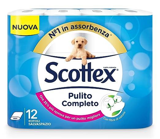 15 opinioni per Scottex Carta Igienica Pulito Completo, 12 Rotoli