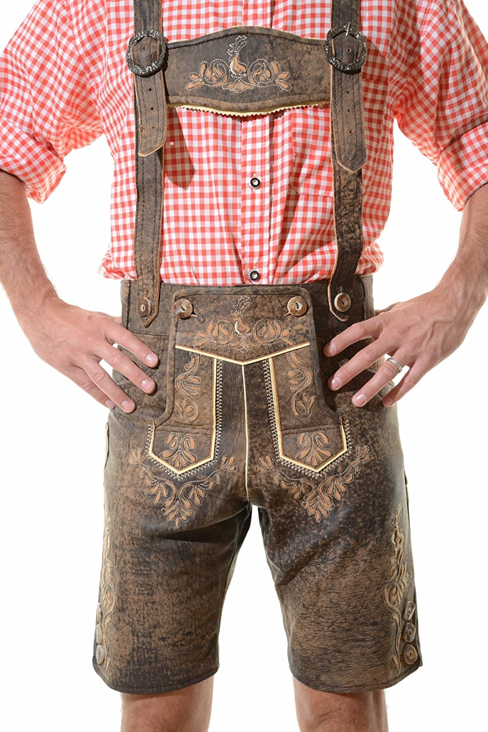 100% Authentic German Bavarian Okoberfest Trachten Lederhosen JODLER