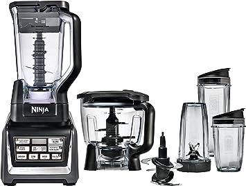 Nutri Ninja Blender/Food Processor with Auto-iQ 1200-Watt Base, 72oz Pitcher, 64oz Processor Bowl, 18, 24, and 32oz Cups, and Prep Blades (BL682) ...