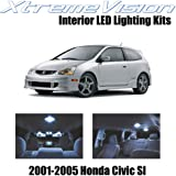 XtremeVision Interior LED for Honda Civic SI Only 2001-2005 (7 Pieces) Cool White Interior LED Kit + Installation Tool