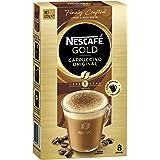 NESCAFÉ Gold Cappuccino Original Coffee Sachets 8 Serves (Choc Shaker Included), 123 g
