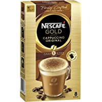 NESCAFÉ Gold Cappuccino Original Coffee Sachets 8 Serves (Choc Shaker Included), 123 g
