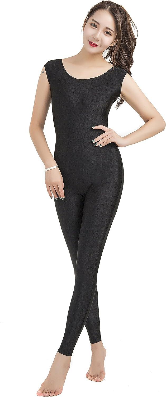 Speerise Womens Spandex Tank Top Scoop Neck Unitard Activewear Bodysuit