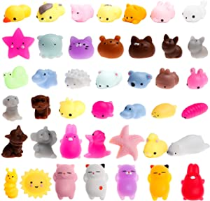 WATINC 30 Pcs Mochi Squeeze Toy, Squeeze Cat Toy for Mochi Party Favors, Birthday Gifts for Boys & Girls, Mini Cute Animal Squeeze Toys, Kawaii Stress Relief Toys, Goodie Bags Egg Fillers