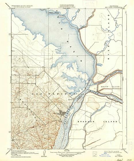 Amazon Com Yellowmaps Rio Vista Ca Topo Map 1 31680 Scale 7 5 X