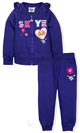 928ad84a70 Paw Patrol Official Licensed Girls Tracksuit Outfit Set Zipped Jumper and  Joggers - Purple 3