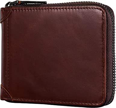 Mens Leather Wallet.Leather Mens Bifold Detachable ID case Zip Pocket Lot of 3