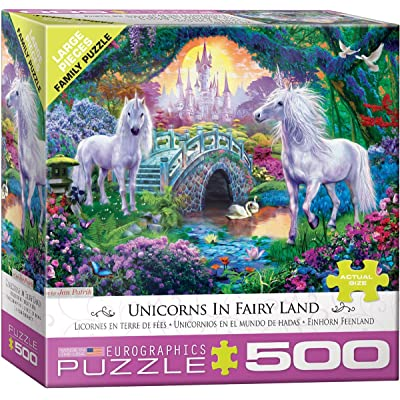 EuroGraphics (EURHR Unicorn Fairy Land 500Piece Puzzle 500Piece Jigsaw Puzzle: Toys & Games