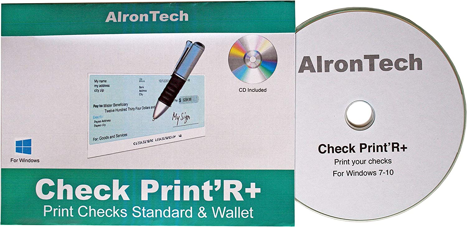 Check Print'R Windows : Print Checks Business and Wallet Size, one or Three per Page