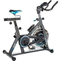 Elitum Indoor Cycle Indoorcycling mit Pulsmessung Fitnessbike Speed Bike Computer Schwungrad 18 kg Einstellbarer Widerstand Sattel & Lenker verstellbar