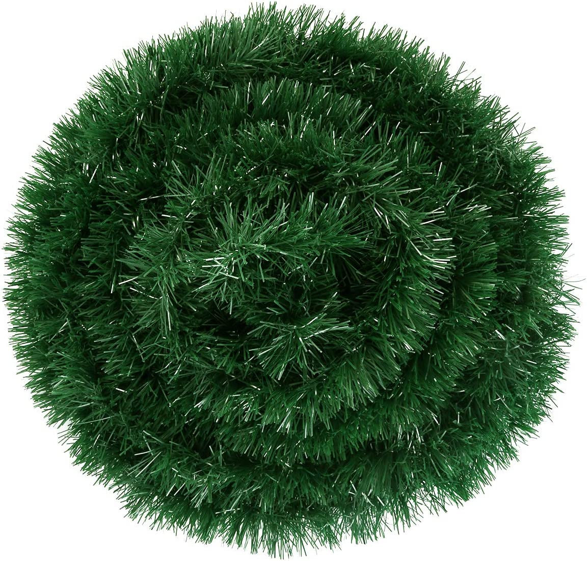 50 Foot Christmas Garland Decorations, Artificial Pine Garland Soft Green Garland for Holiday Wedding Party Decor, Outdoor/Indoor Use