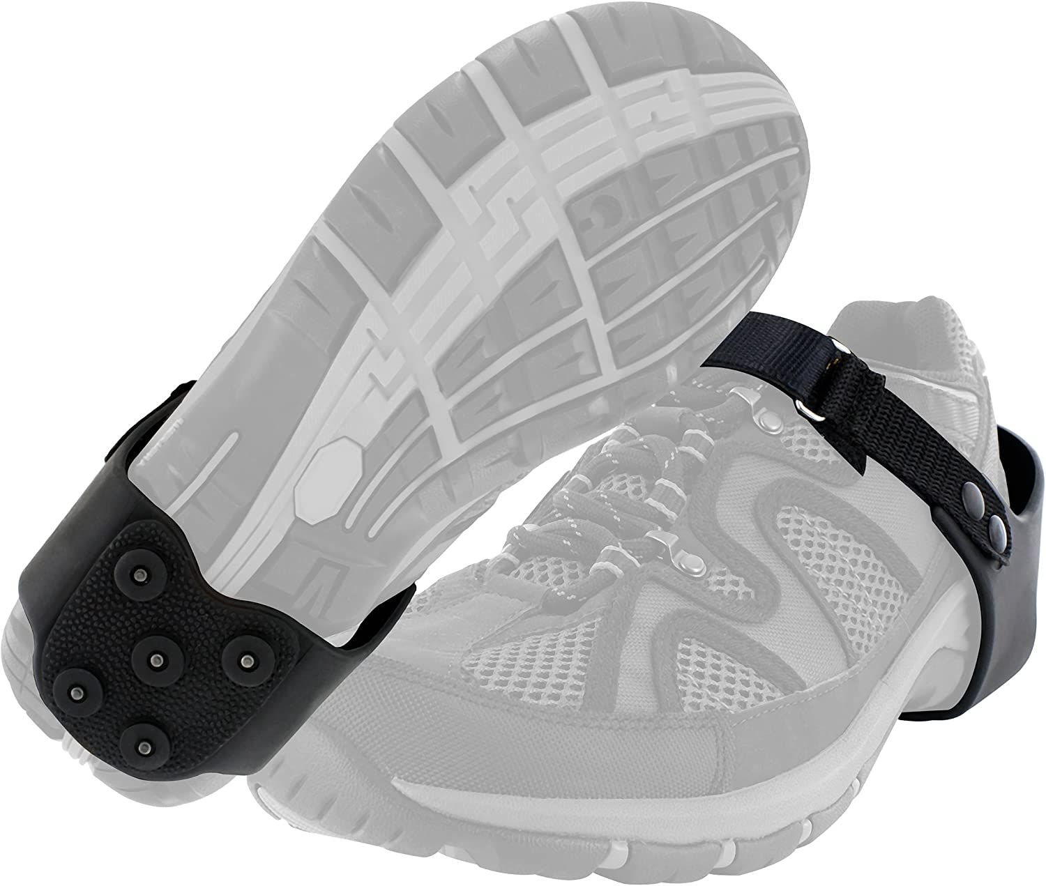 Yaktrax Heeltrax Heel-Only Traction Cleats for Walking on Ice and Snow (1 Pair)