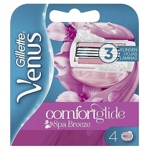 Venus ComfortGlide Spa Breeze Recambio de Maquinilla 2-en-1 con Barras de Gel, sin Necesidad de Gel de Depilación - 4 Unidades: Amazon.es: Salud y cuidado ...