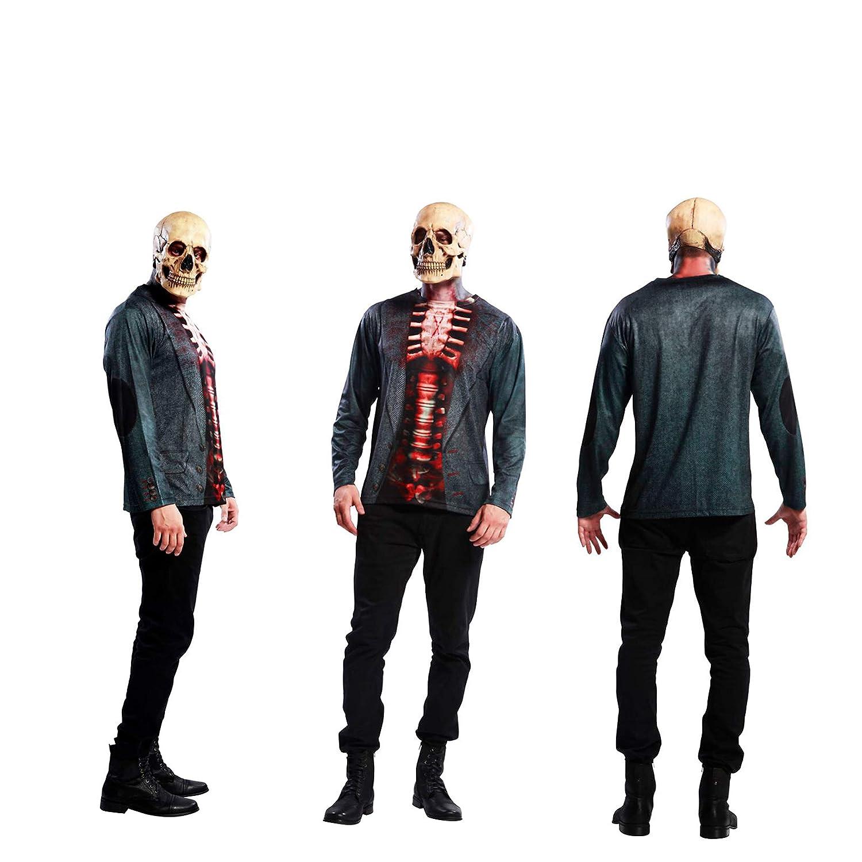 Yijja Fast Fun - Skeleton, camiseta de manga larga para adultos ...
