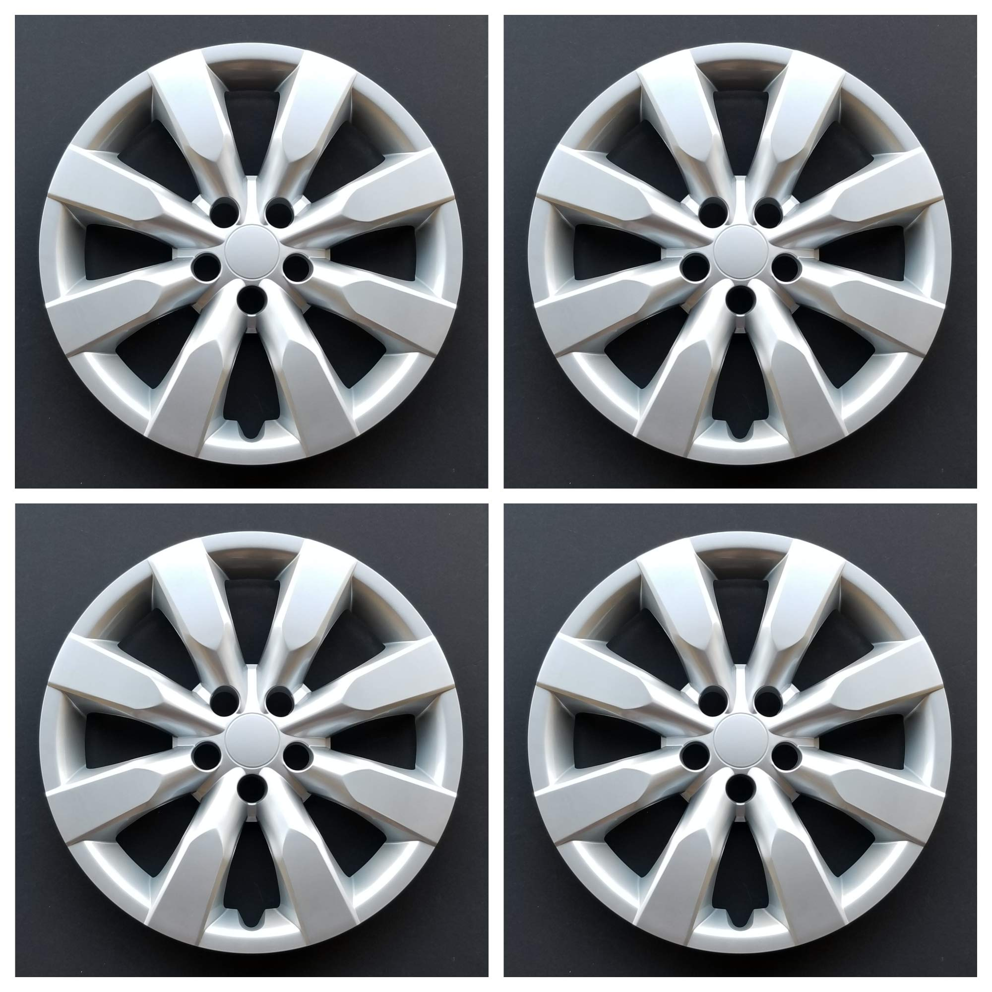 "New Wheel Covers Hubcaps Fits 2020 Toyota Corolla 16/"" Silver 8 Spoke Set Of 4"