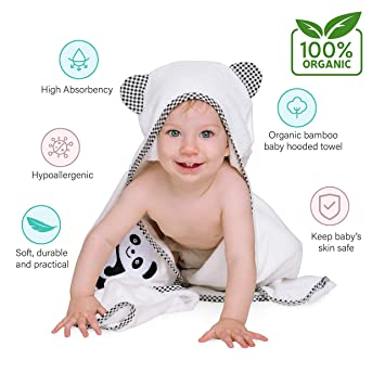 Muslin + Washcloth Complete Baby Gift Basket Combo Large Hooded Baby Towel