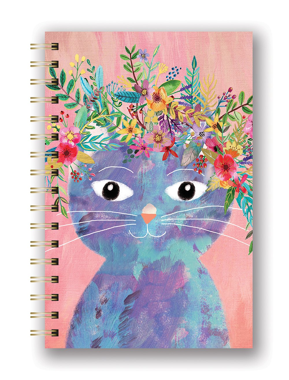 Studio Oh! Hardcover Spiral Notebook Available in 9 Different Designs, Mia Charro Fancy Cat