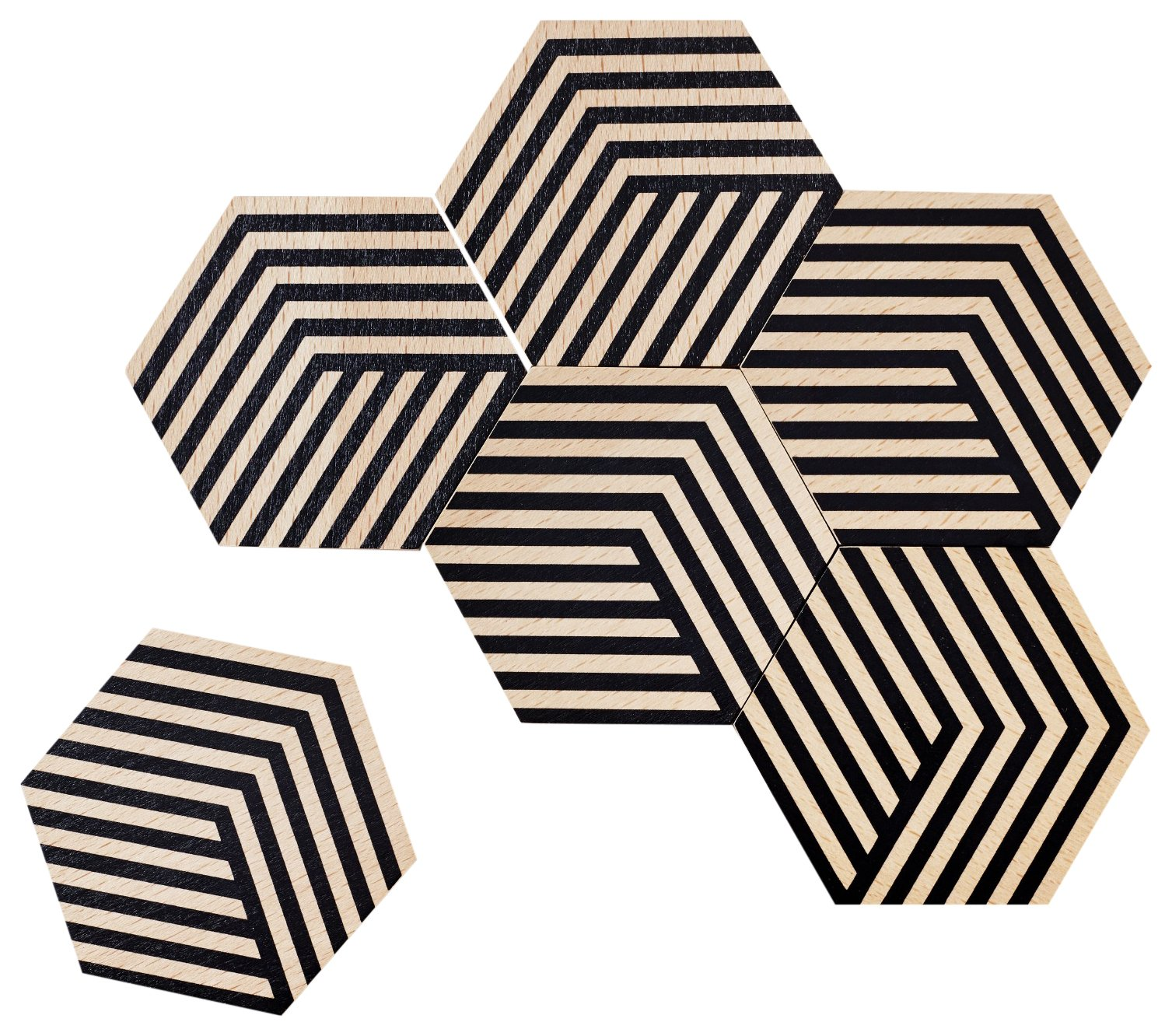 Areaware Table Tiles (Optic Black) by Areaware