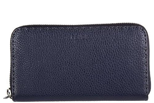 Fendi monedero cartera bifold de mujer en piel nuevo zip around selleria cuero r: Amazon.es: Zapatos y complementos