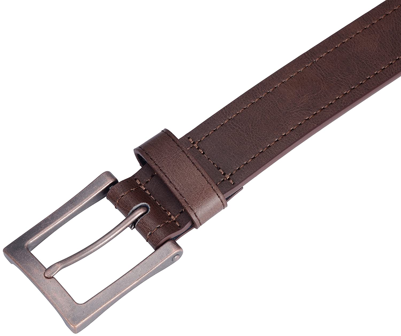 Marino Men/'s Genuine Leather Belt Classic Jean Style 1.5 Width