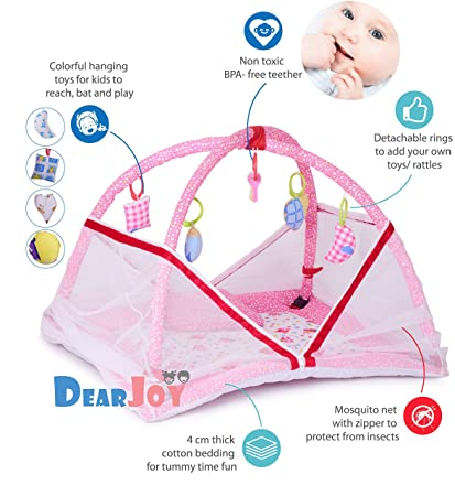DearJoy Baby Bedding Set/Baby Bedding Set with Mosquito Net and Baby Play Gym with Mosquito�