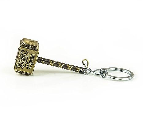 Llavero de superhéroe con forma de martillo Mjolnir de Thor ...