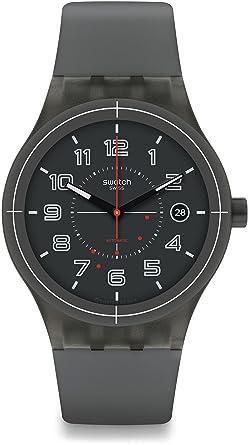 Swatch Reloj Digital para Hombre de Automático con Correa en Silicona SUTM401: Amazon.es: Relojes