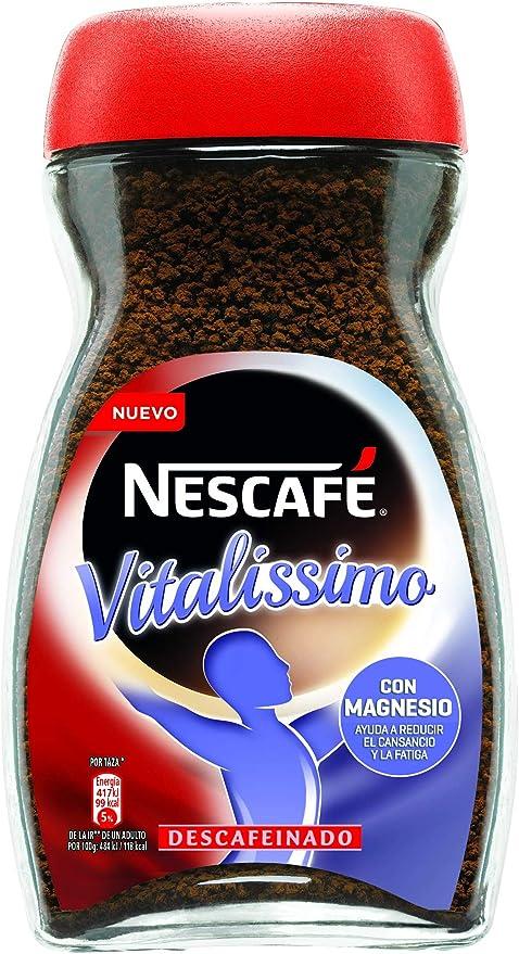 Nescafé Café Vitalissimo Soluble Descafeinado, Bote de cristal ...