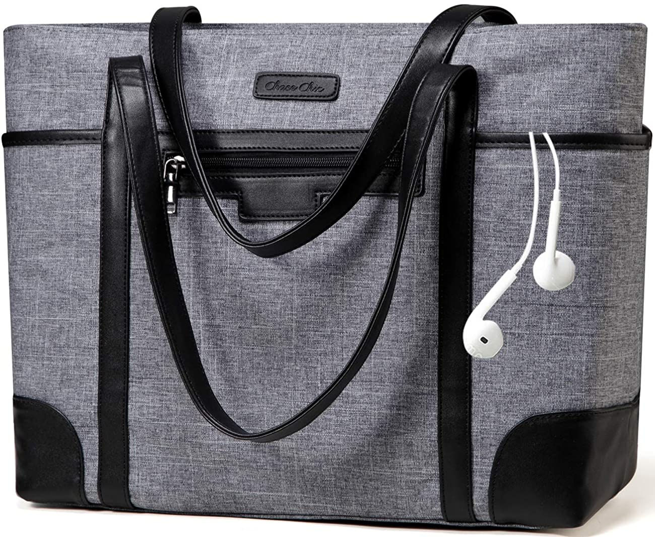Laptop Bag for Women,Chasechic Water-resistant Classic 15.6in Work Shopping Tote