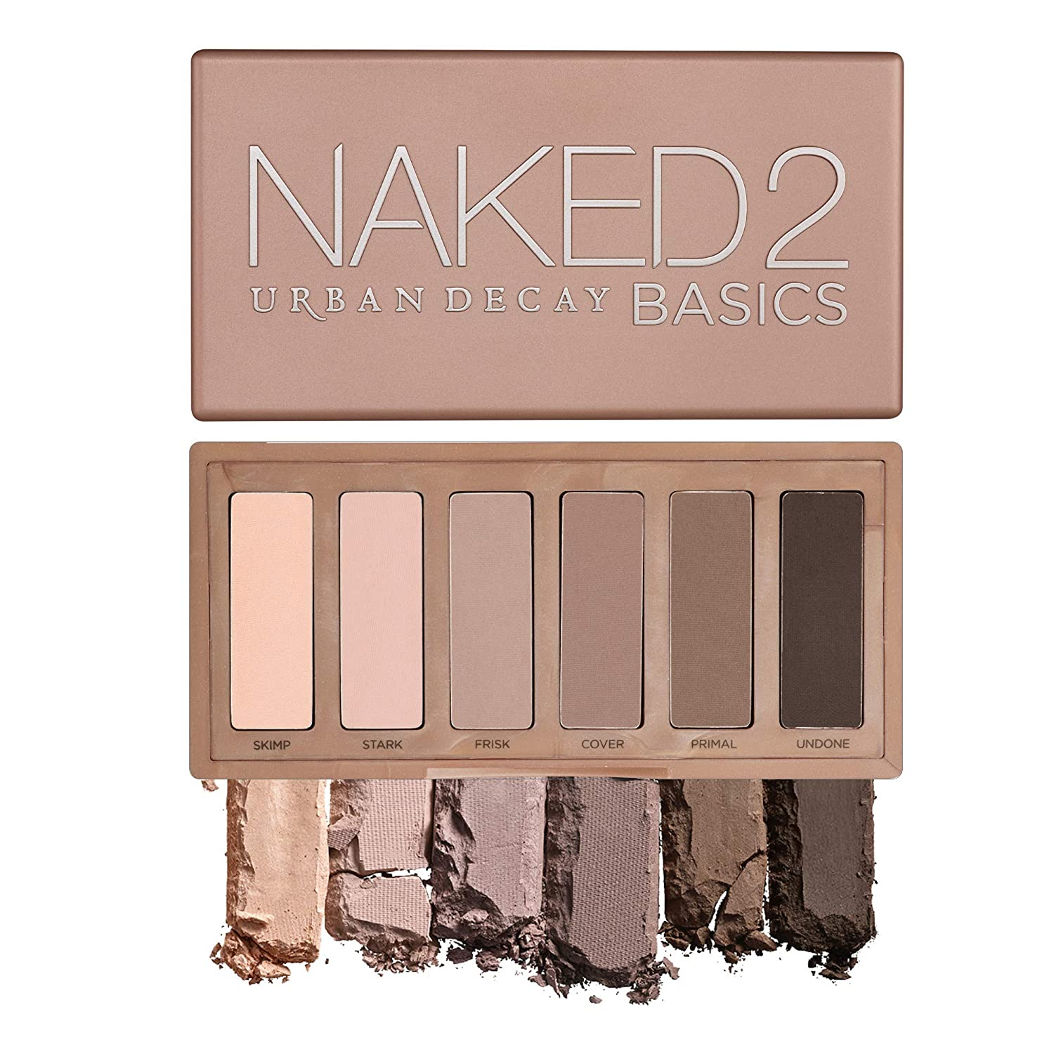 Urban Decay Naked2 Basics Eyeshadow Palette, 6 Taupe & Brown Matte Neutral Shades – Ultra-Blendable, Rich Colors with Velvety Texture – Makeup Set Includes Mirror & Full-Size Pans – Great for Travel
