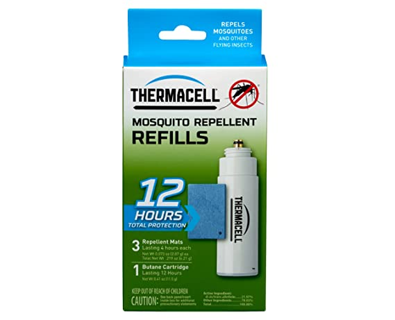 amazon com thermacell r 1 mosquito repeller refill 12 hour pack 3
