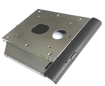 ultracaddy 2 nd HDD SSD disco duro Caddy para Lenovo IdeaPad 110 – 15 ISK/IKB con placa frontal