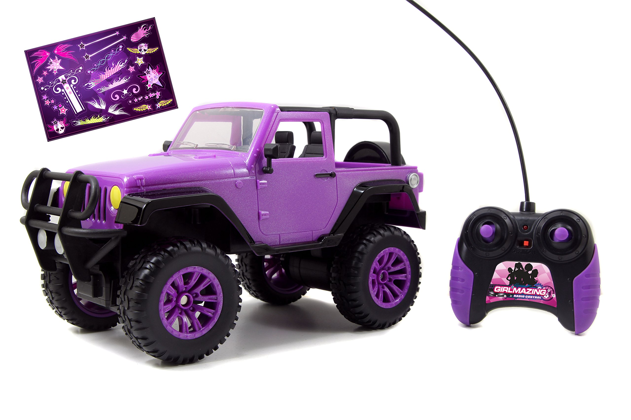 Jada Toys GIRLMAZING Big Foot Jeep R/C Vehicle (1:16 Scale), Purple by Jada Toys (Image #2)