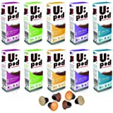 Morphy Richards 100 Nespresso Compatible Coffee Capsules Variety Pack of 100 UPod Coffee Pods 5 Flavours