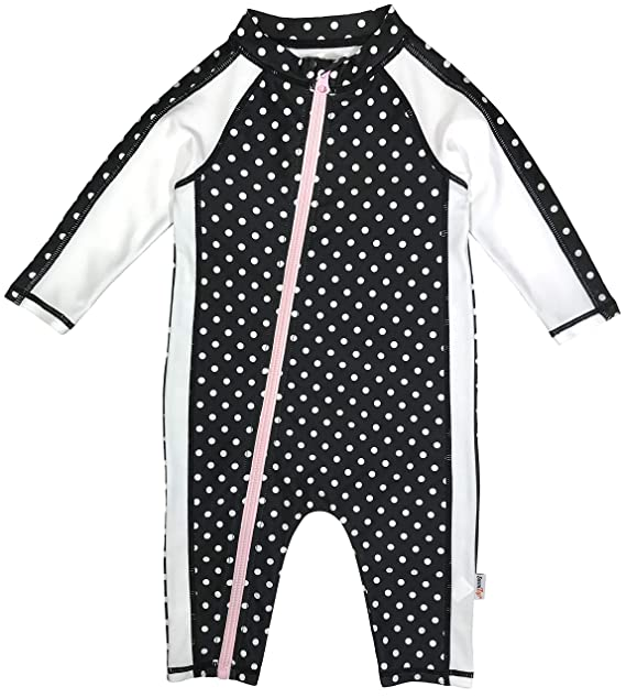 a7dd1d0500 SwimZip Little Girl Long Sleeve Sunsuit Romper Swimsuit UPF 50 Sun  Protection: Amazon.ca: Clothing & Accessories