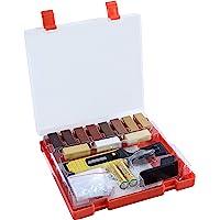 Werkzeyt Houtreparatieset 17-delig -11 verschillende tinten - incl. wassmelter, schaaf & schuurspons - geschikt voor…