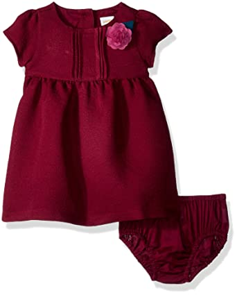 d5bb3c61edb76 Amazon.com: Gymboree Baby Girls Cap Sleeve Rosette Burgundy Winter Dress,  18-24 mo: Clothing