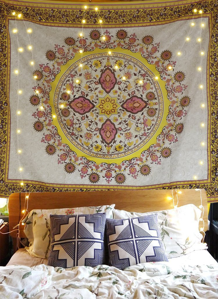 Tapestry Wall Tapestry Wall Hanging Tapestries Floral Medallion Wall Tapestry Indian Hippie Mandala Tapestry Large Tapestry Bohemian Psychedelic Tapstries Dorm Decor Wall Art Wall Blanket Bed Covers
