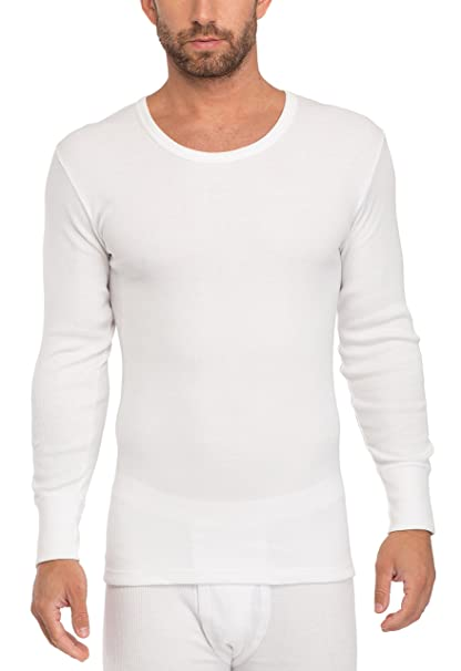 Timone Camisetas Térmicas 100% Algodón Manga Larga Ropa Interior Hombre 509 (Blanco, S