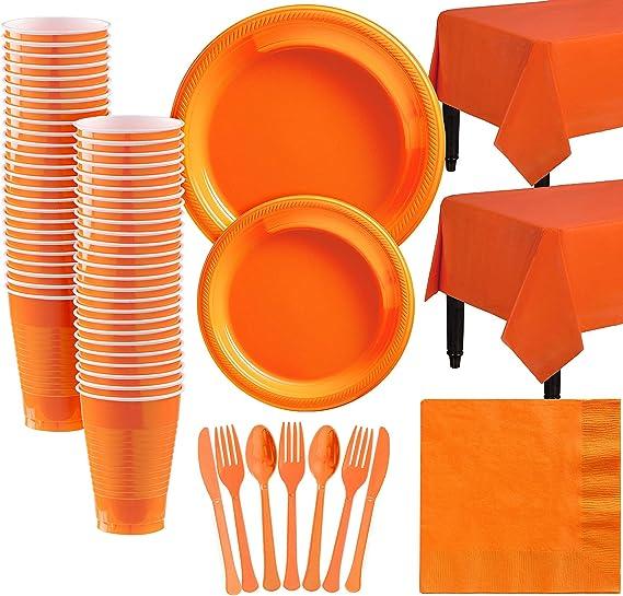 amscan Orange Dinner Paper Napkins 40cm-20 Pcs
